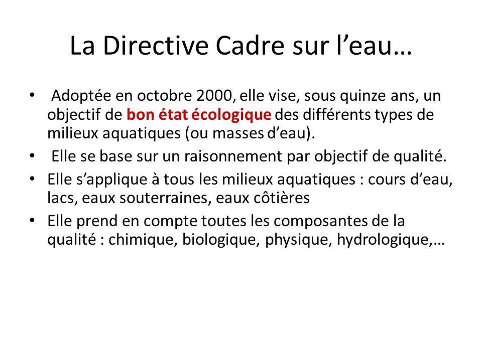 La Directive Cadre sur l'eau…