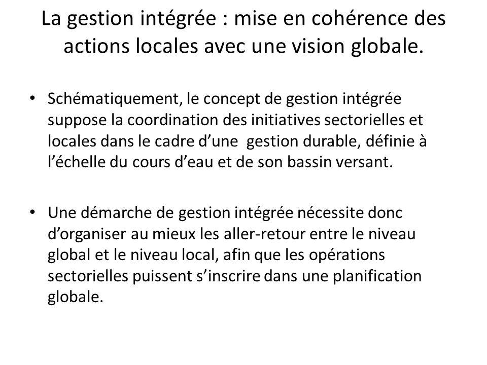 La gestion intégrée : mise en cohérence des actions locales avec une vision globale.