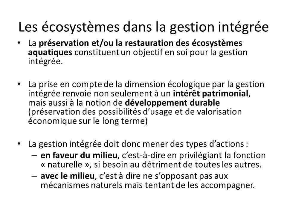 Les écosystèmes dans la gestion intégrée