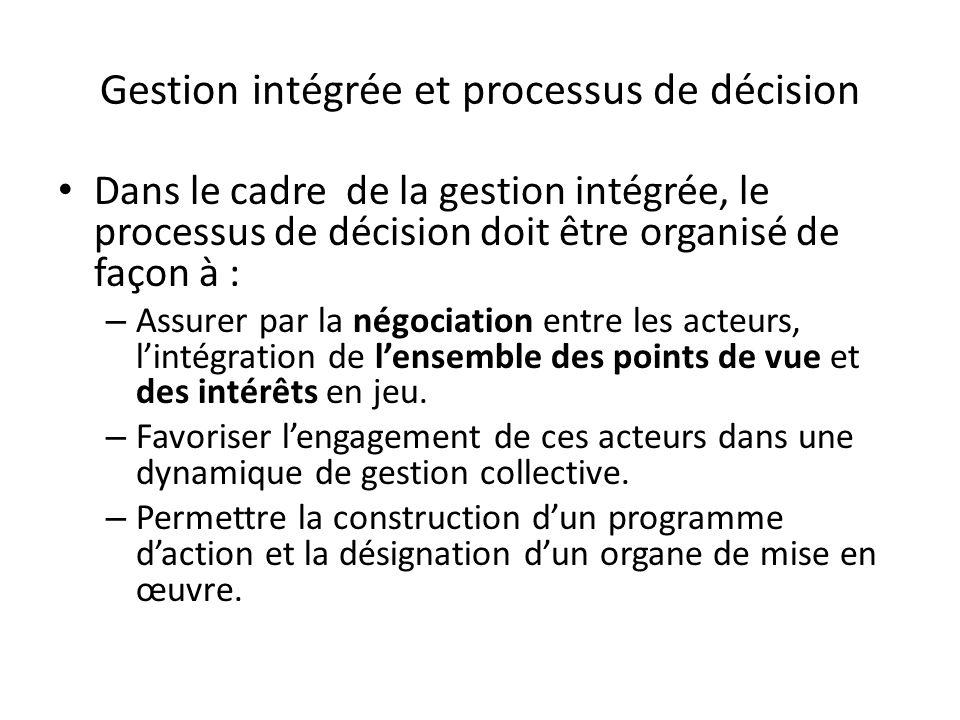 Gestion intégrée et processus de décision