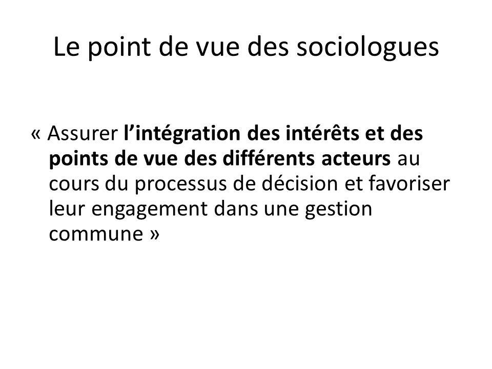 Le point de vue des sociologues