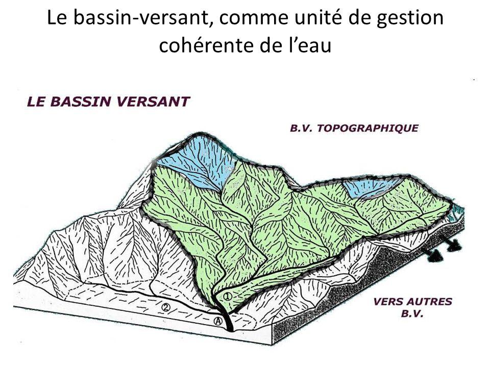 Le bassin-versant, comme unité de gestion cohérente de l'eau
