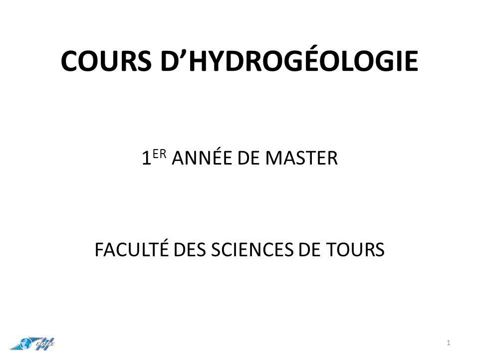 Cours d'hydrogéologie