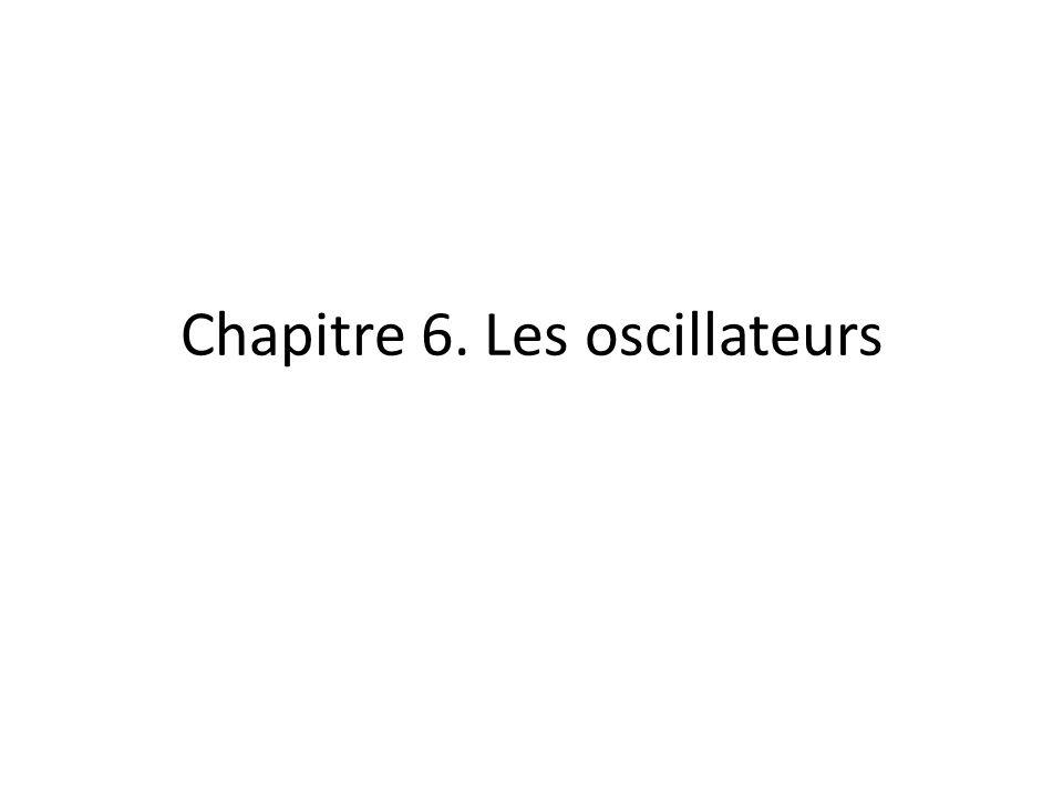 Chapitre 6. Les oscillateurs