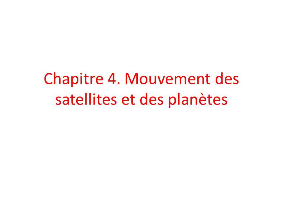 Chapitre 4. Mouvement des satellites et des planètes