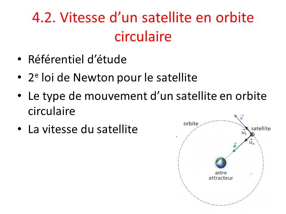 4.2. Vitesse d'un satellite en orbite circulaire