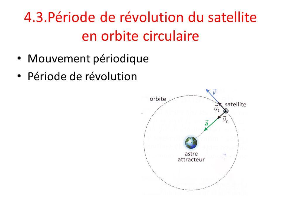 4.3.Période de révolution du satellite en orbite circulaire