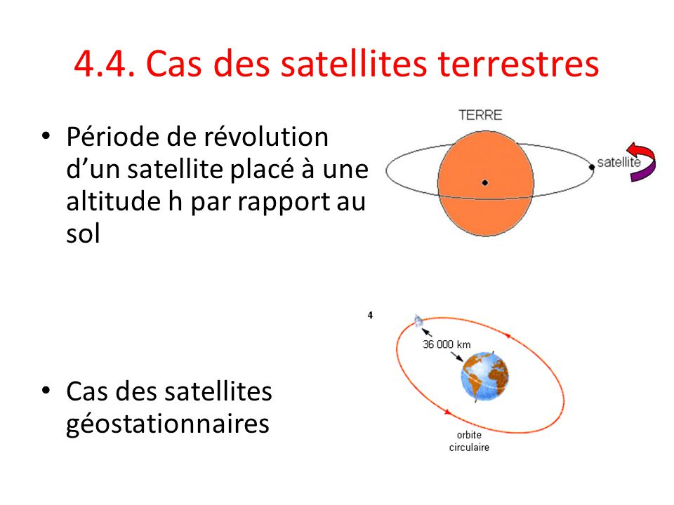 4.4. Cas des satellites terrestres