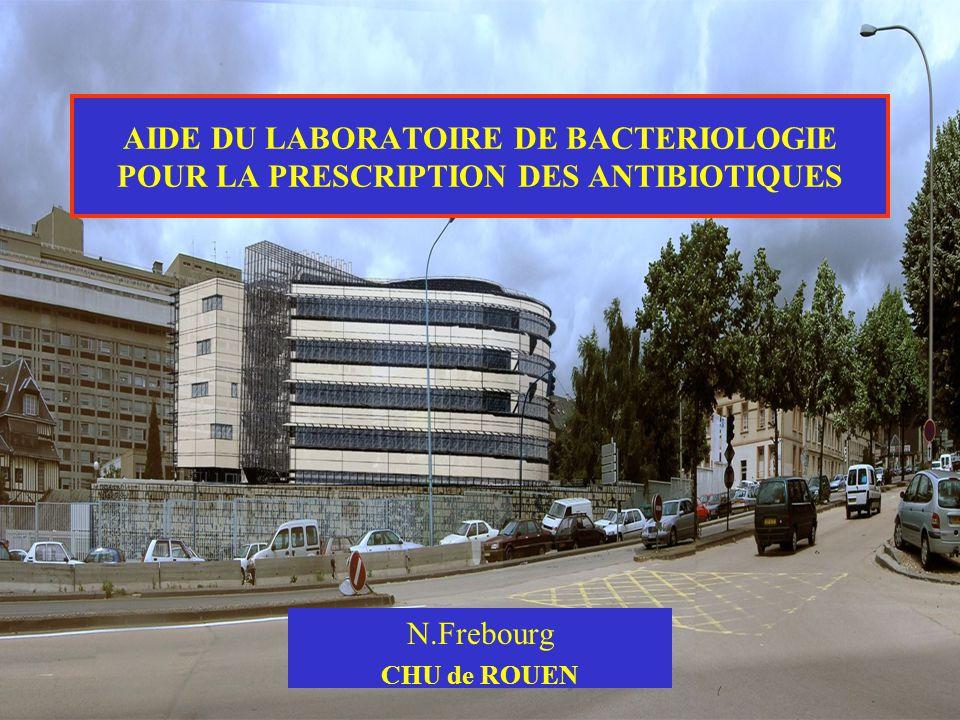 AIDE DU LABORATOIRE DE BACTERIOLOGIE POUR LA PRESCRIPTION DES ANTIBIOTIQUES