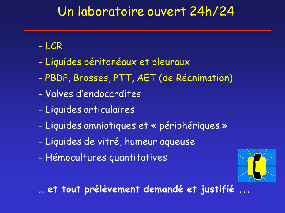Un laboratoire ouvert 24h/24