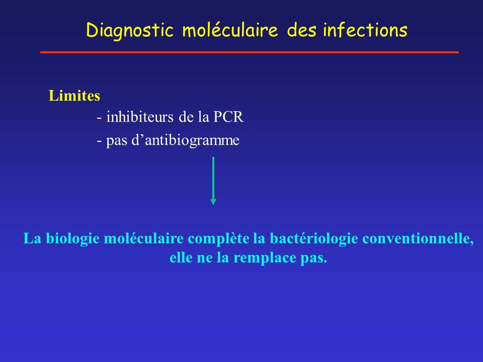 La biologie moléculaire complète la bactériologie conventionnelle,