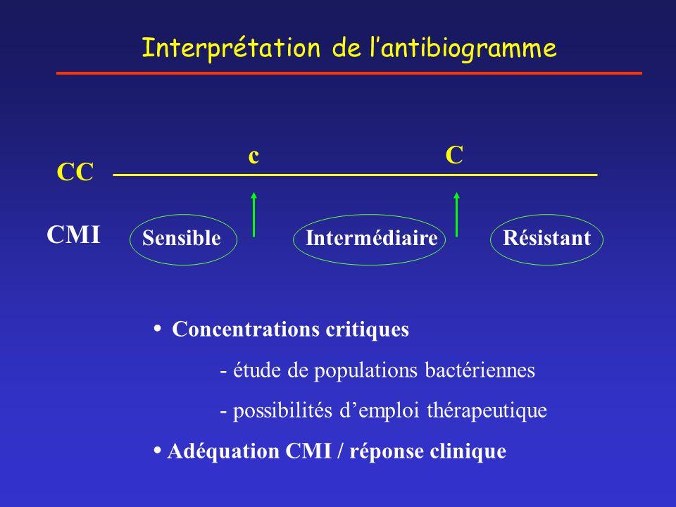 Interprétation de l'antibiogramme