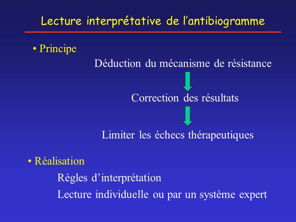 Lecture interprétative de l'antibiogramme