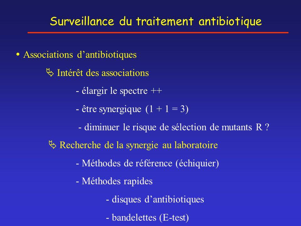 Surveillance du traitement antibiotique