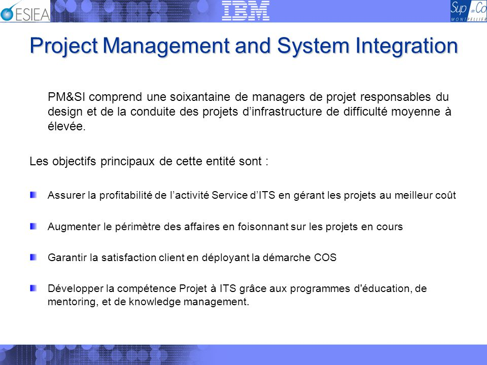 Project Management and System Integration