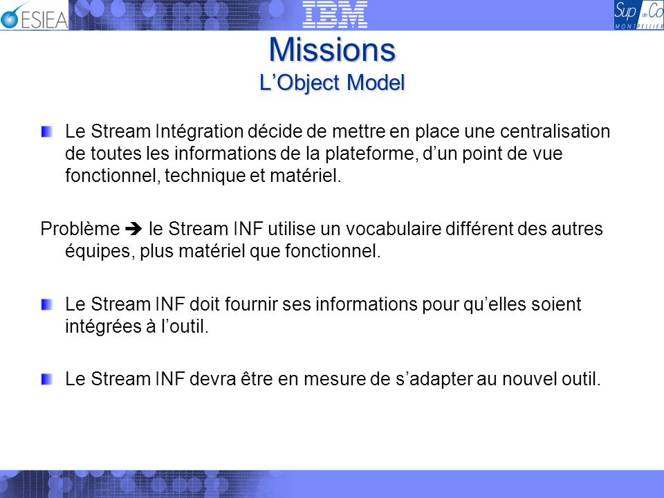 Missions L'Object Model