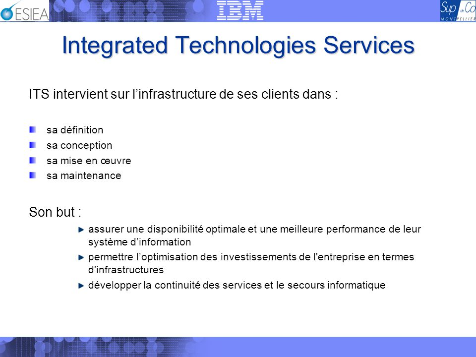 Integrated Technologies Services