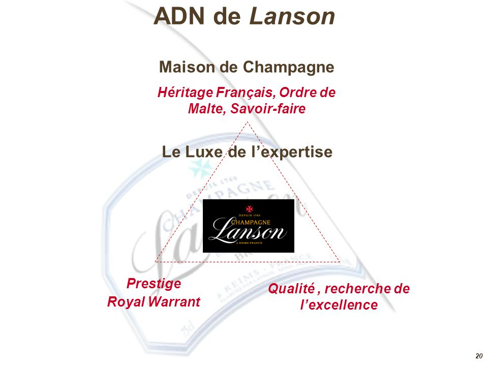 ADN de Lanson Maison de Champagne Le Luxe de l'expertise