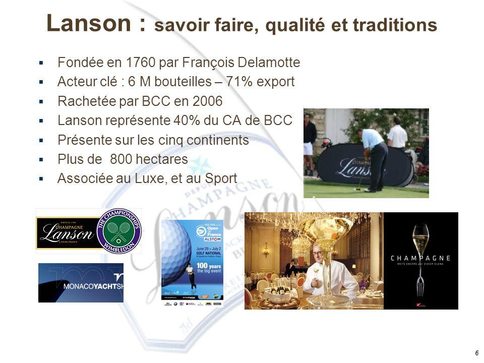 Lanson : savoir faire, qualité et traditions