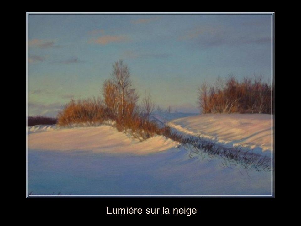Lumière sur la neige