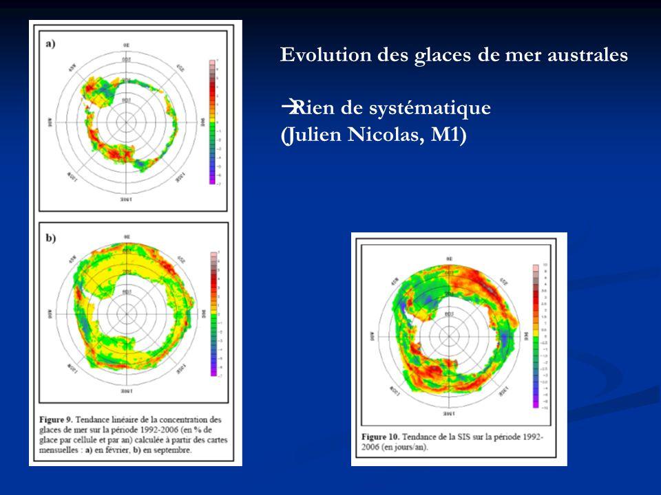 Evolution des glaces de mer australes