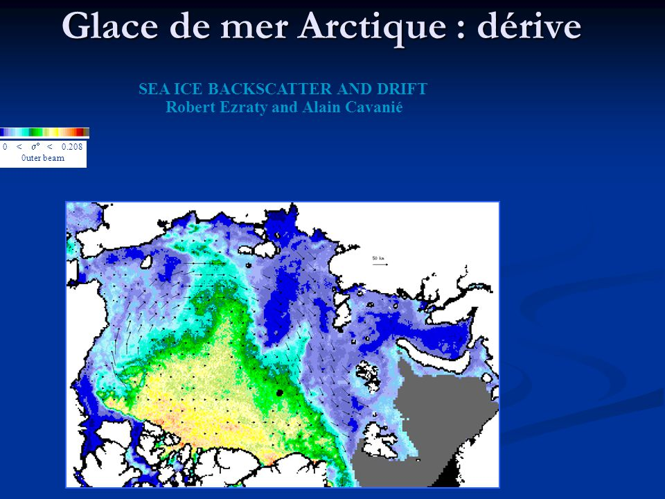 Glace de mer Arctique : dérive