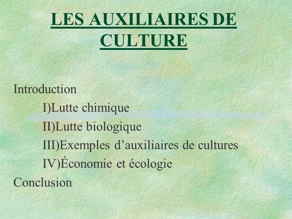 LES AUXILIAIRES DE CULTURE