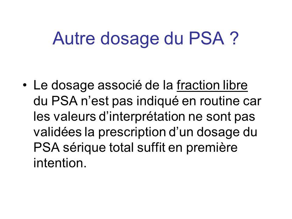 Autre dosage du PSA