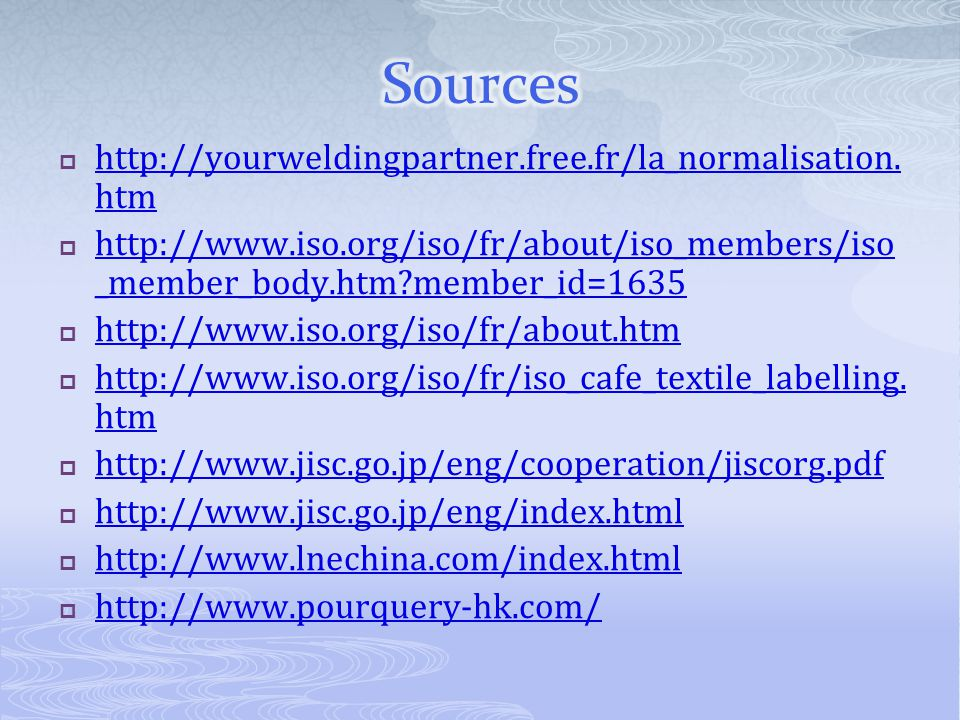 Sources http://yourweldingpartner.free.fr/la_normalisation.htm
