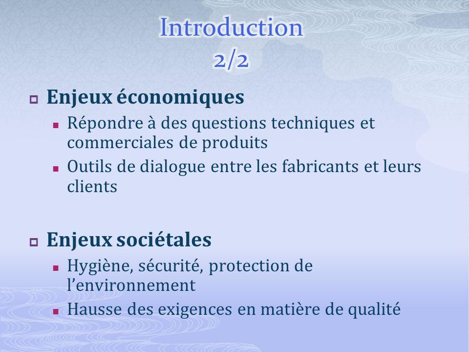 Introduction 2/2 Enjeux économiques Enjeux sociétales