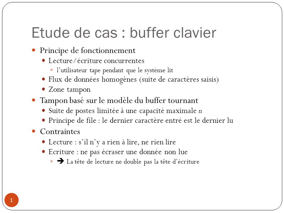Etude de cas : buffer clavier