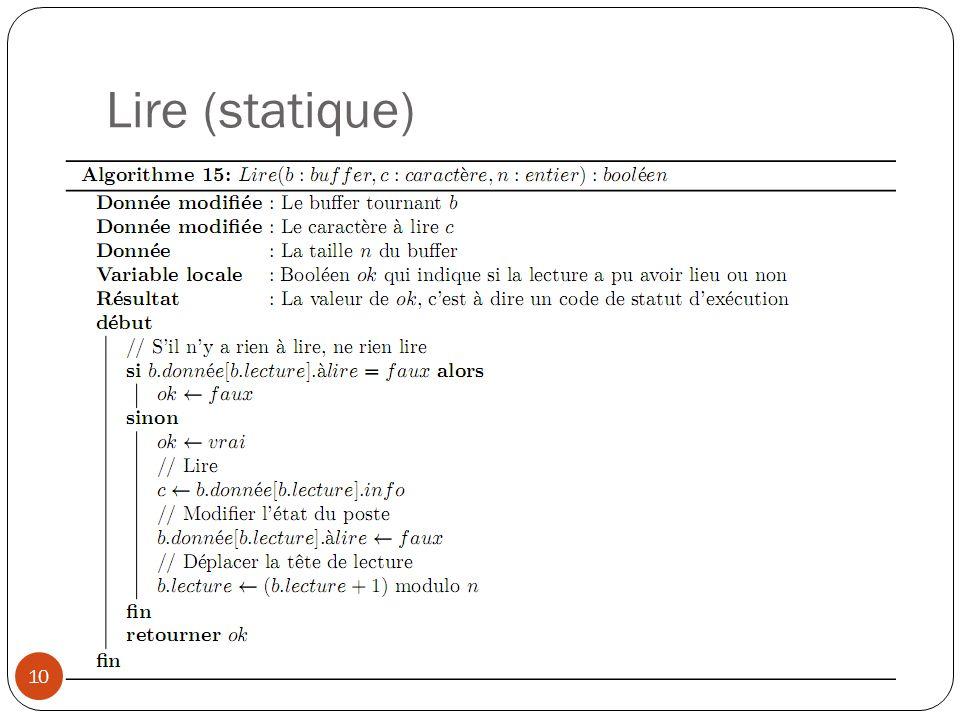 Lire (statique)