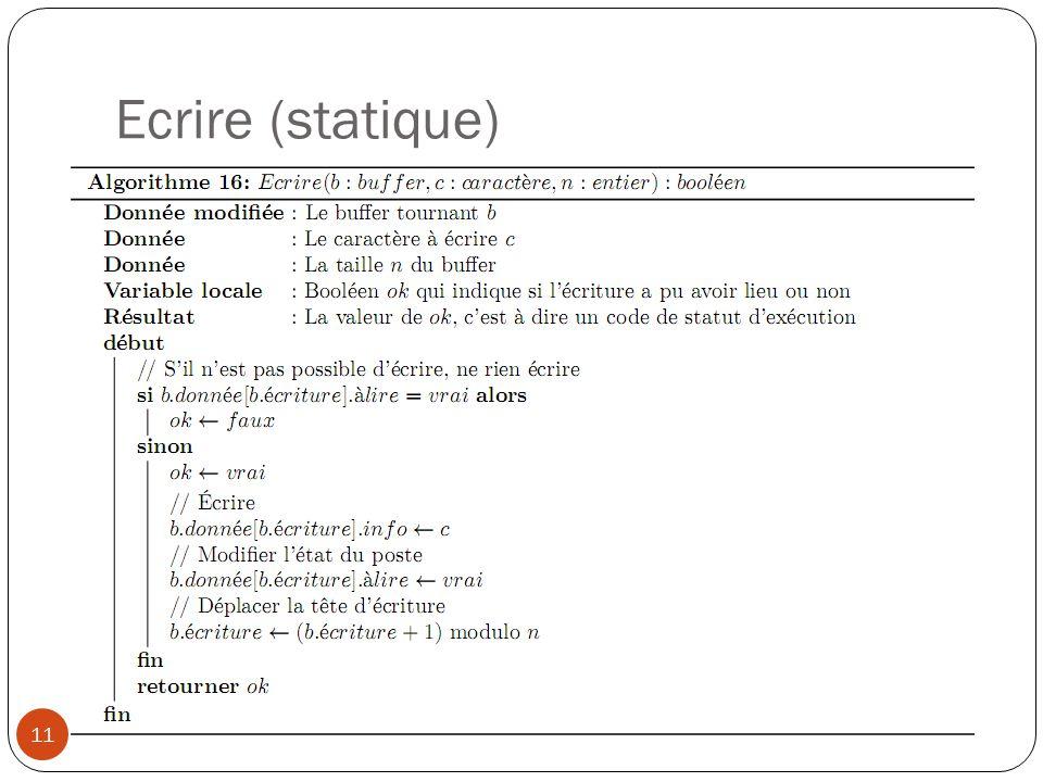 Ecrire (statique)