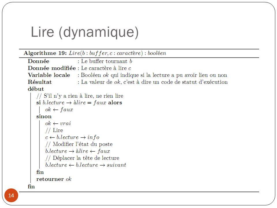 Lire (dynamique)