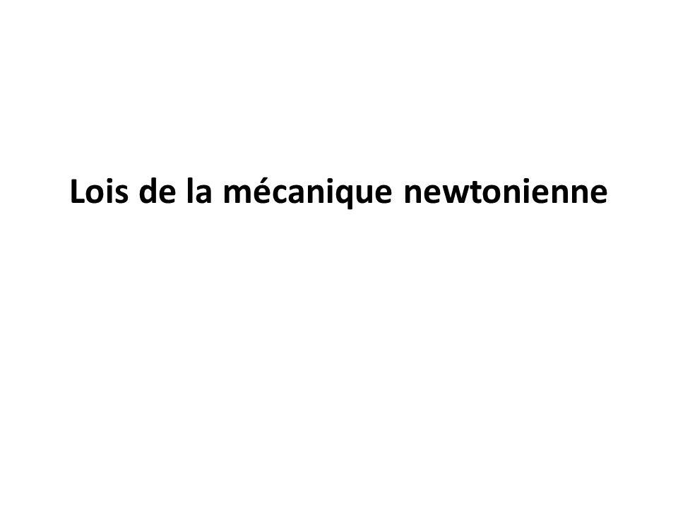 Lois de la mécanique newtonienne
