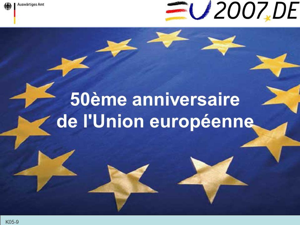 50ème anniversaire de l Union européenne