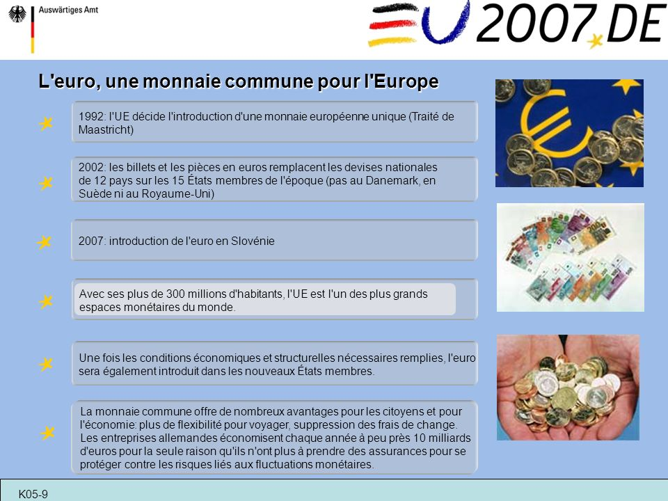 L euro, une monnaie commune pour l Europe