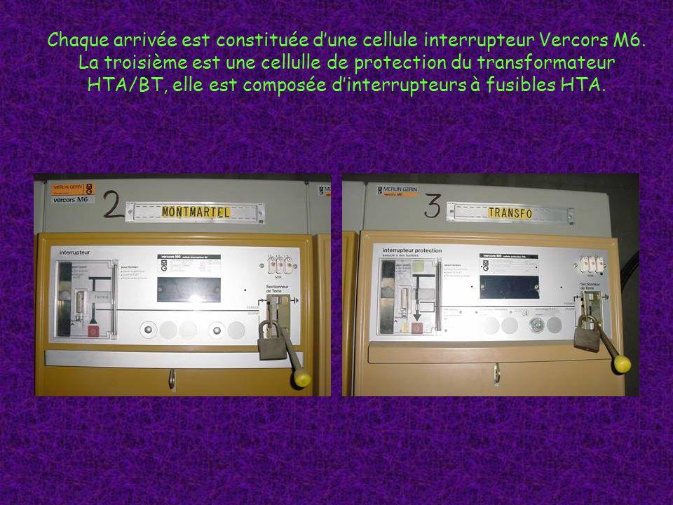 Chaque arrivée est constituée d'une cellule interrupteur Vercors M6