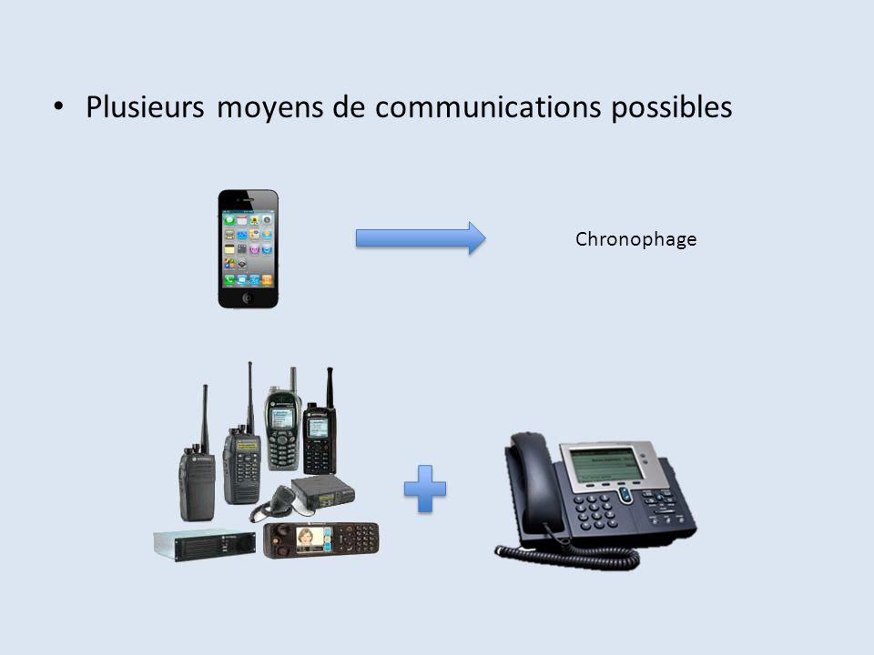 Plusieurs moyens de communications possibles