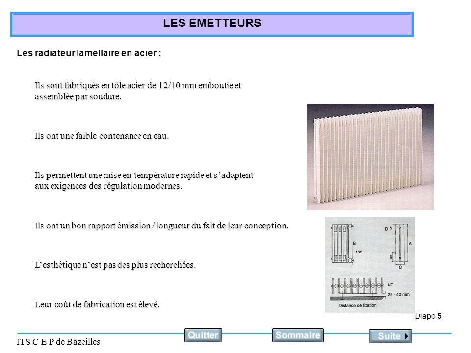 Les radiateur lamellaire en acier :