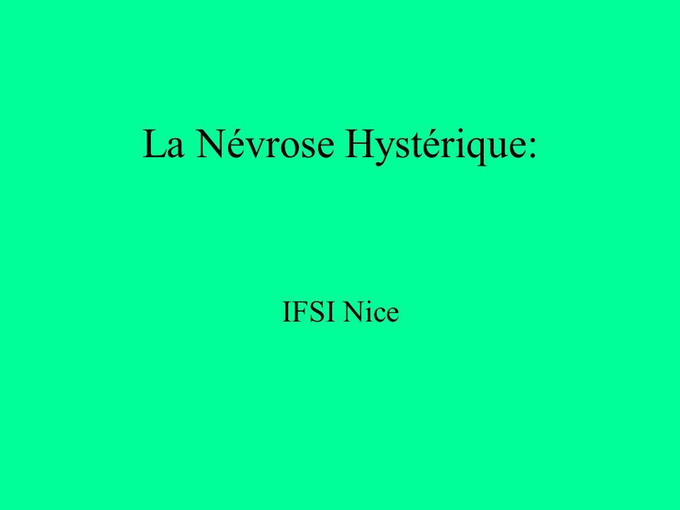 La Névrose Hystérique: