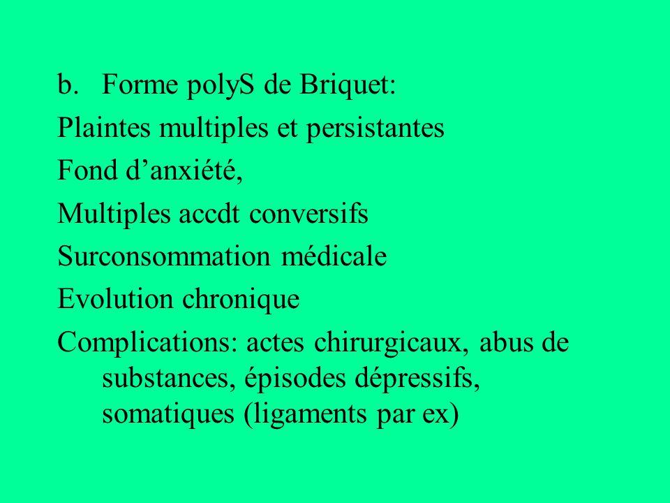 Forme polyS de Briquet: