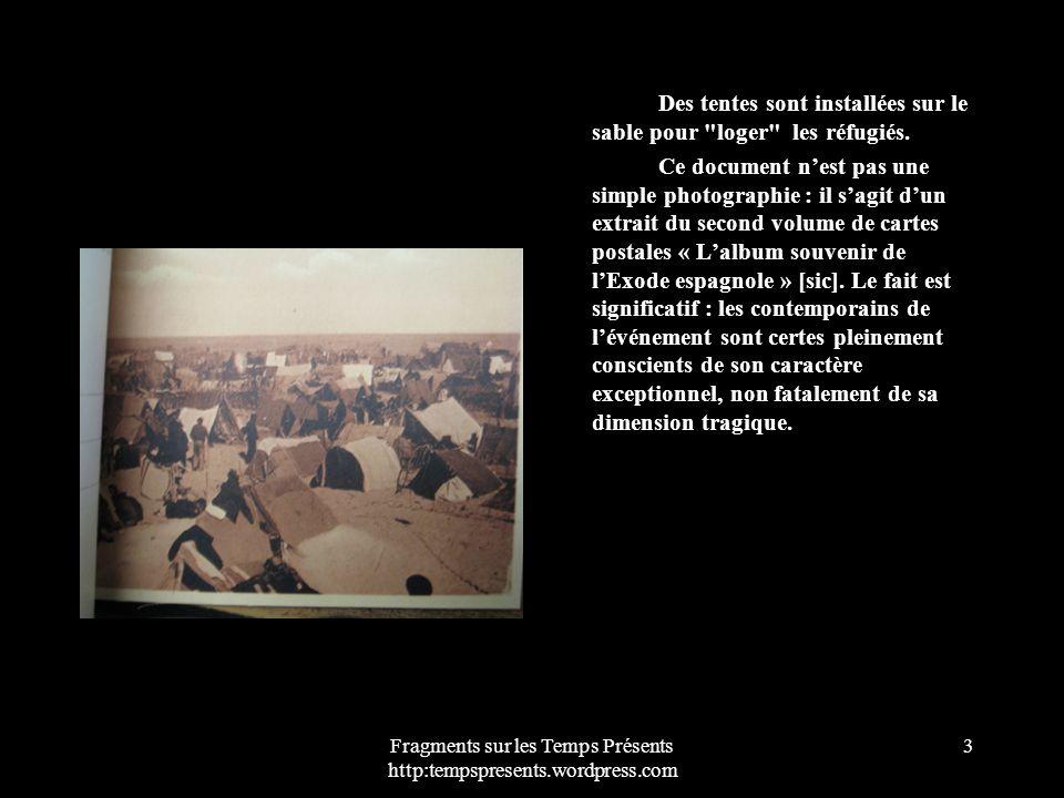 Fragments sur les Temps Présents http:tempspresents.wordpress.com