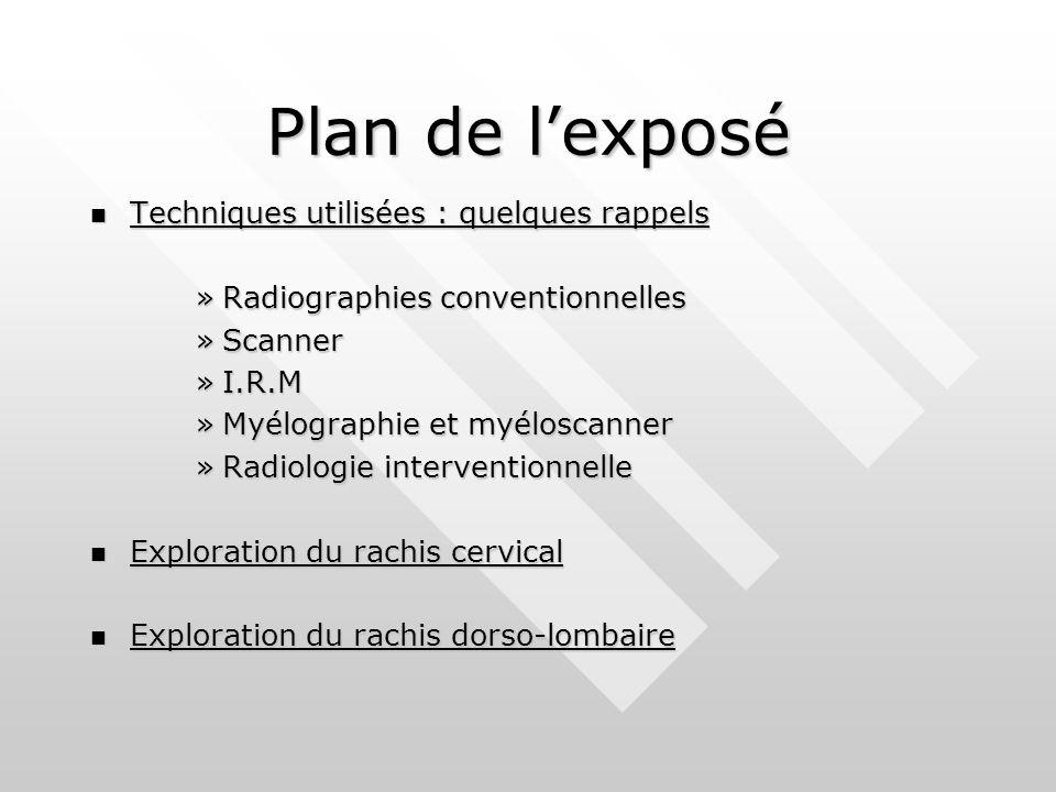 Plan de l'exposé Techniques utilisées : quelques rappels
