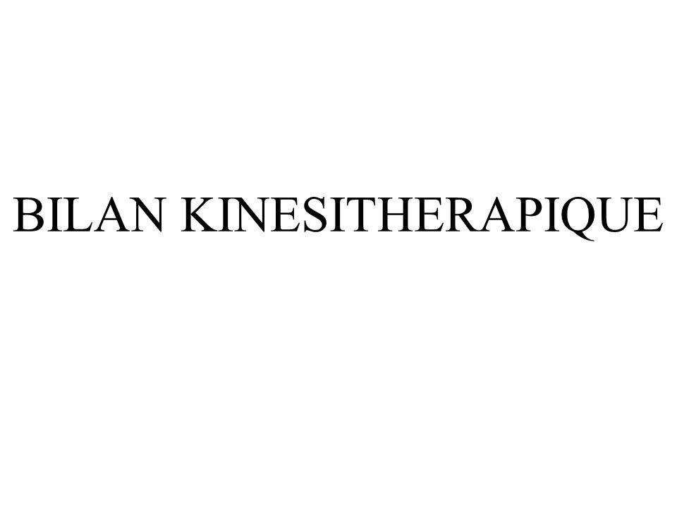 BILAN KINESITHERAPIQUE