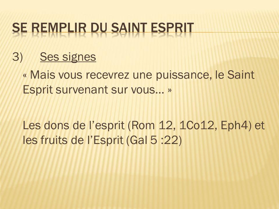 Se remplir du Saint Esprit