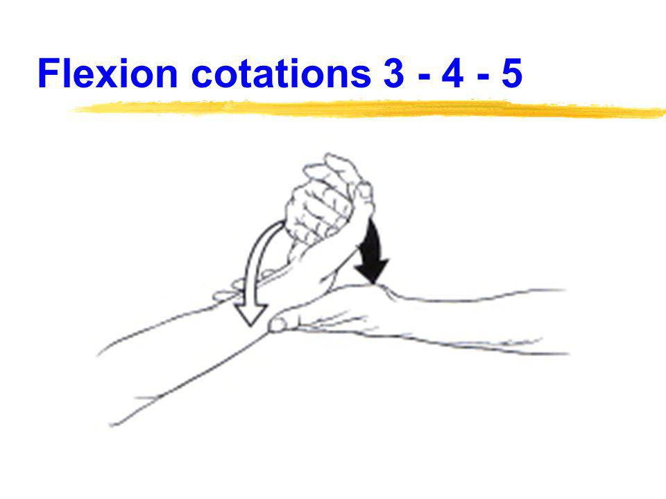 Flexion cotations 3 - 4 - 5