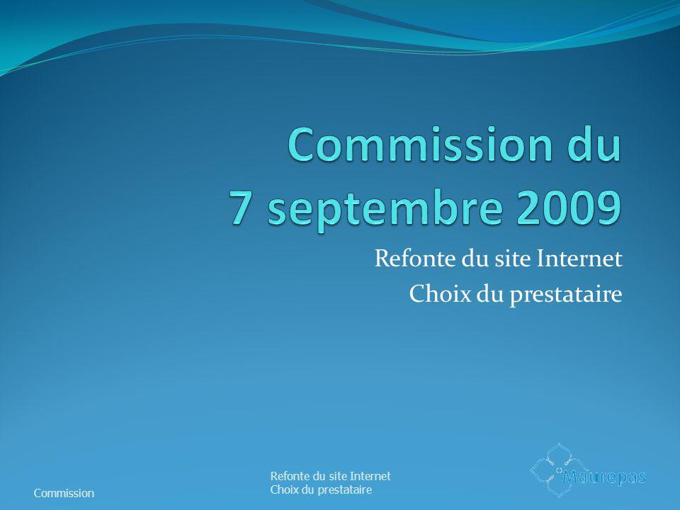 Commission du 7 septembre 2009