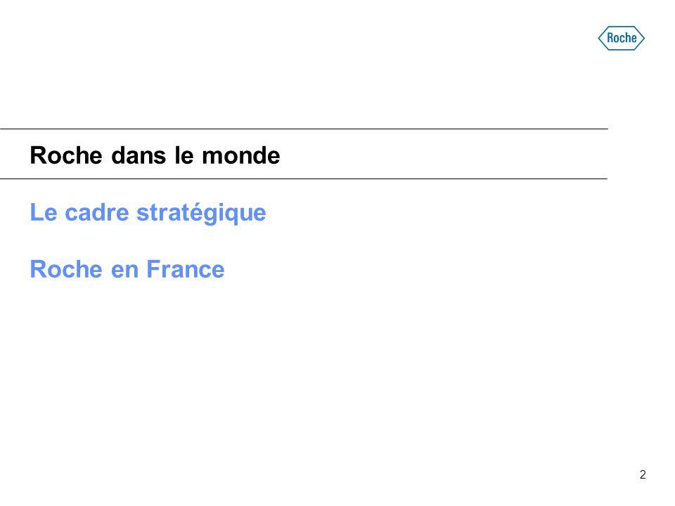 Roche dans le monde Le cadre stratégique Roche en France