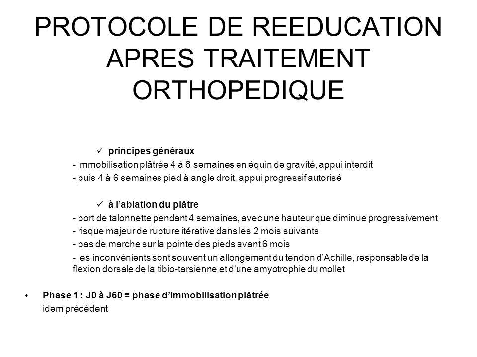 PROTOCOLE DE REEDUCATION APRES TRAITEMENT ORTHOPEDIQUE